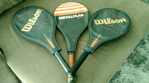 Raquetes Tênis 3 Com Capa - ( Usadas Em Bom Estado ) -cfh