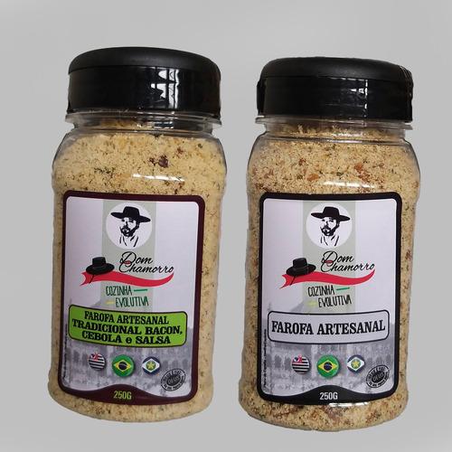Kit 02 Farofas Cebola E Salsa & Natural Com Ervas