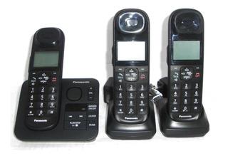 Telefono Panasonic Kx-tg3683b 3 Auriculares Id Contestador