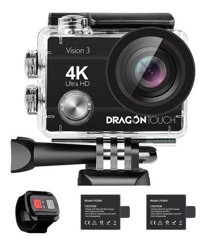Imagen 1 de 1 de Cámara deportiva Dragon Touch Action Camera Vision 3 4K negra