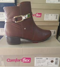 466004bd0 Bota Feminina Comfortflex Cano Curto - Sapatos no Mercado Livre Brasil