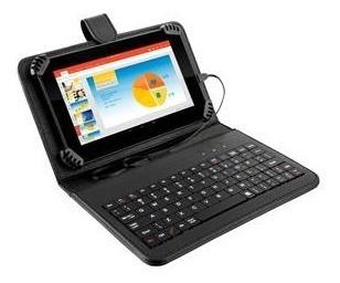 Tablet Tela 7 Android Gps 3g Celular 2 Chips + Capa Teclado