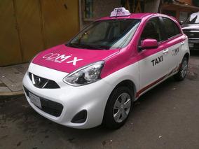 Taxi 2016 Nissan March , 197 Mil Pesos Placas Solas 60 Mil