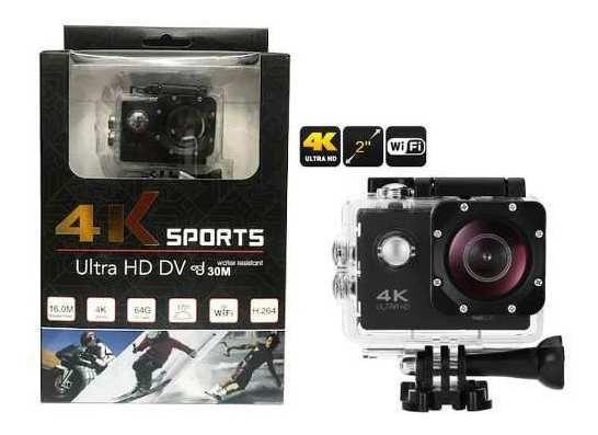 Filmadora Action Go Ultra 4k Wifi Hd + Bateria Frete Grát