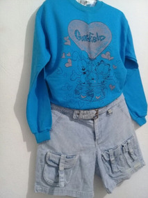 Moletom Garfield Tamanho P E Short Jeans Dimpus 38
