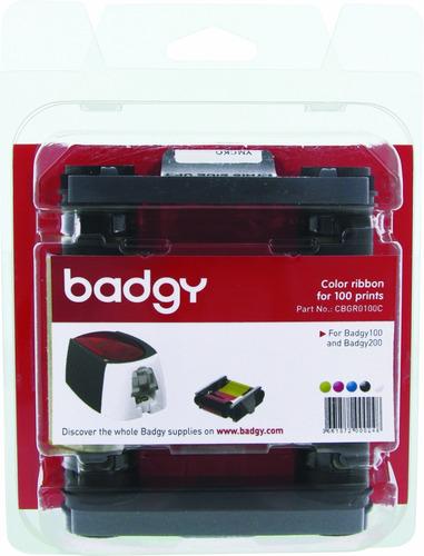 Imagen 1 de 4 de Una Cinta Ribbon Color Para Impresora Badgy 100 Rinde Cien