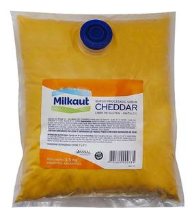 Queso Cheddar Liquido Milkaut