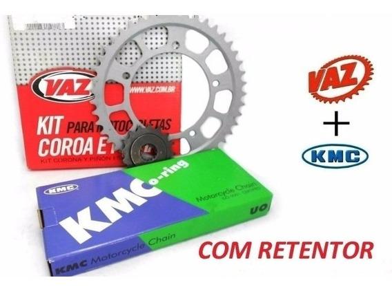 Relacao Vblade 250 Corrente Kmc Com Retentor Coroa Pinhao Va