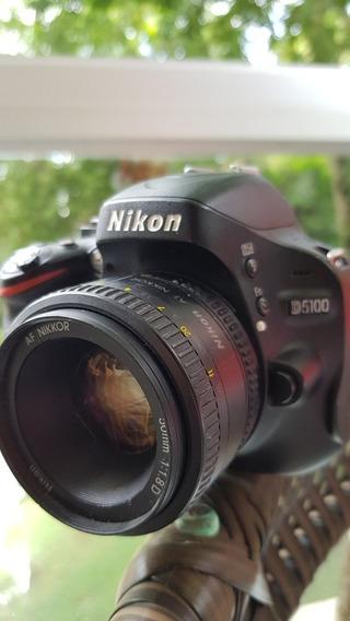 Câmera Nikon D5100 + Lente 50mm F1.8 + Carregador De Bateria