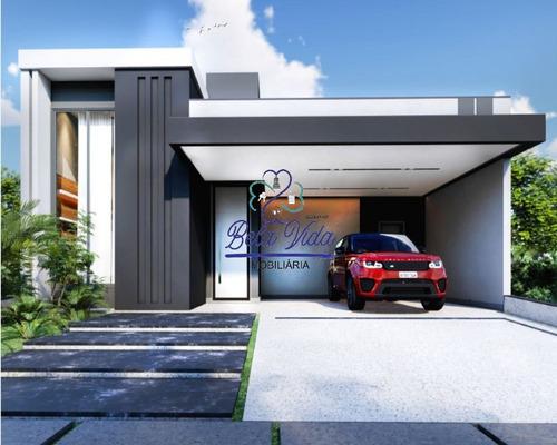 Imagem 1 de 6 de Indaiatuba- Sp, Casa Térrea A Venda Condomínio Jardim Piemonte. Bela Vida Imobiliária - Ca01273 - 69509121