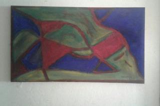 Pintura Abstracta Sobre Oleo