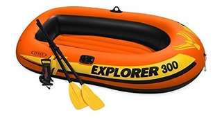 Intex Explorer 300 Set De Kayak Inflable Para 3 Personas Con