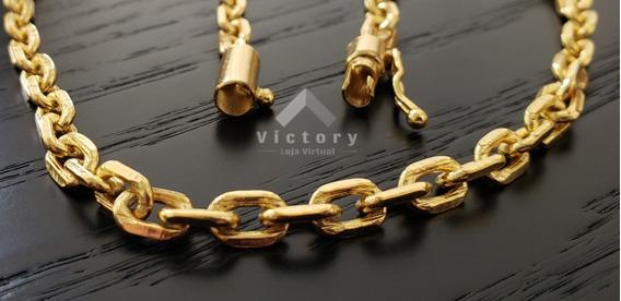 Cordão Cadeado 70cm - 5mm - Banhado A Ouro 18k