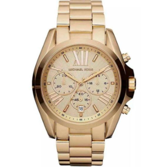 Relógio Michael Kors Clássico Dourado Mk5605/4dn Original