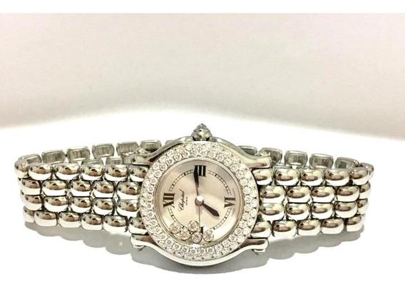 Relógio Suíço Em Diamantes Da Grife Chopard