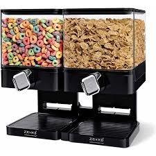Dispenser Duplo Porta Alimentos Cereais Sucrilhos Cozinha