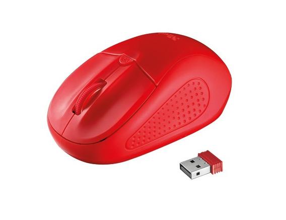 Mouse Inalámbrico Modelo Primo - Rojo - Marca Trust