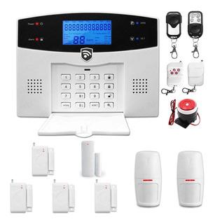 Kit 11 Alarma Gsm Cel Inalambrica Vecinales Seguridad Casa Sistema Sensores Defensa Alerta Control Via App Negocio