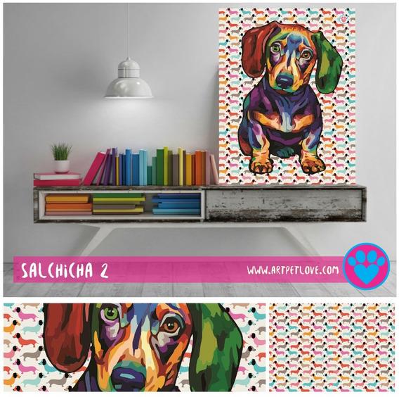 Cuadro - Art Pet Love - Salchicha 2.