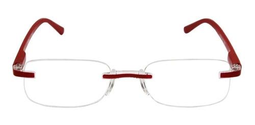 Imagem 1 de 5 de Óculos De Leitura Com Grau Armação Tunnel Vermelho