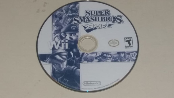 Super Smash Bros Brawl Wii Somente O Disco