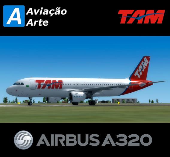 Aeronave Fsx - Frota Tam - Airbus A320