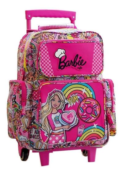 Mochila Carrito Barbie Grande 17 Pulgadas Mmk 16701
