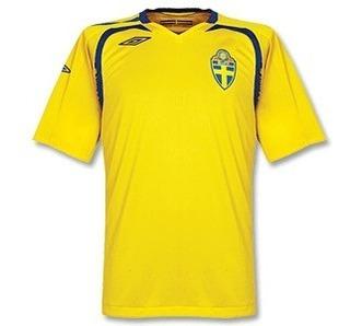 Camiseta Suécia 2008 Home Umbro P Oficial Aceito Trocas