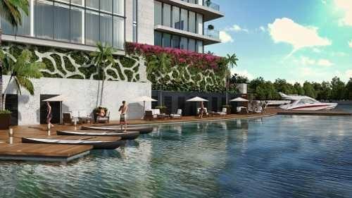 Departamento En Venta Con Vista Al Mar, Ubicado En Lujosa Zona De Cancún, Mod. N-1h Allure