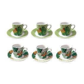 Jogo De Xícaras Para Café Em Porcelana Dynasty Coffe Time 6