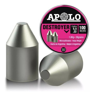 Balines Apolo Destroyer Point 5.5 X150 - Punta .22 - Caza