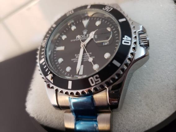 Relógio Masculino Pronta Entrega Azul Preto Promoção
