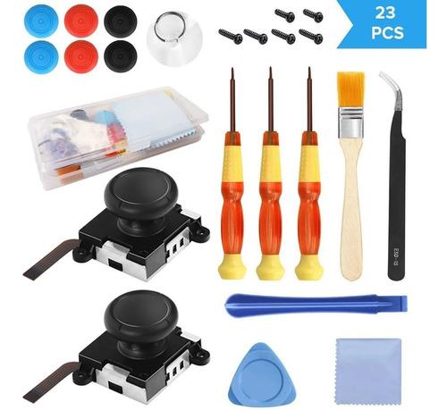 Imagen 1 de 9 de Kit De Reparación Joycon Repuesto Joystick Original 23 Pcs