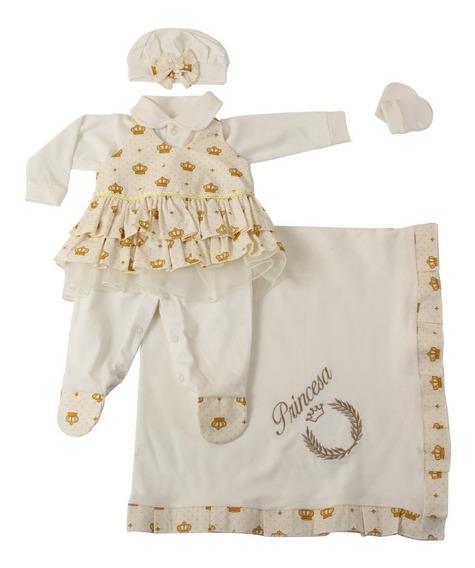 Saída De Maternidade Princesa Menina 5 Peças