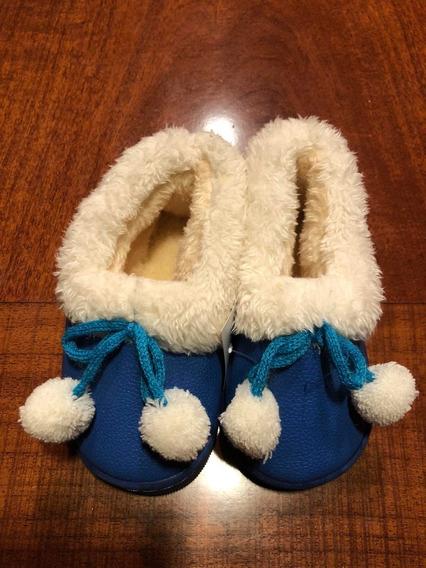 Zapatos Para Niños Invierno Piel Cerrados 24 25