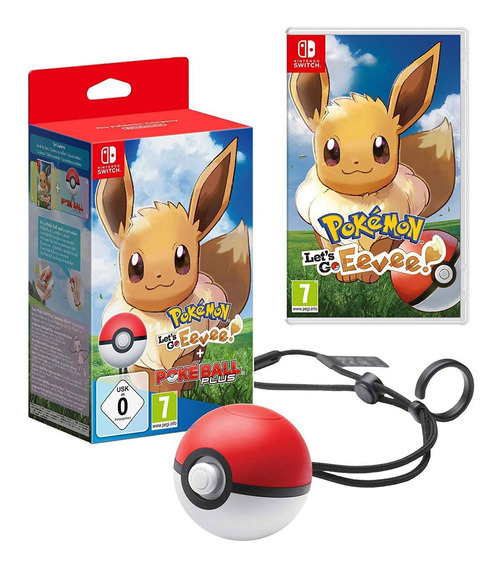 Pokemon Lets Go Eevee Com Poke Ball Novo Lacrado