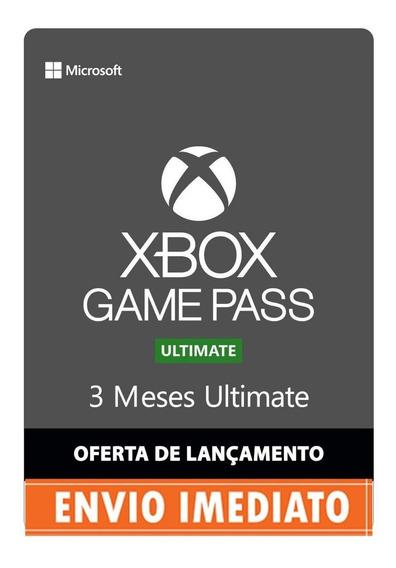 Xbox Game Pass Ultimate - 3 Meses - Envio Imediato