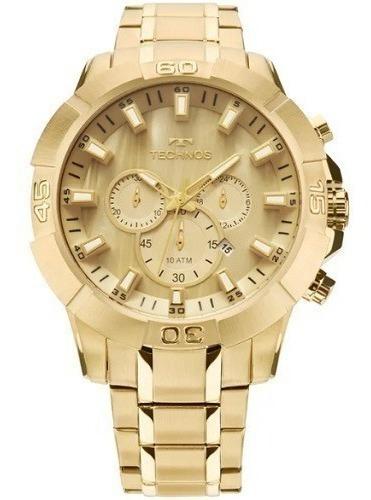 Relógio Technos Masculino Dourado Analógico Garantia
