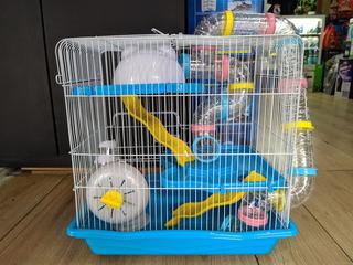 Jaula Habitat Casa Fresno 4 Para Hamsters O Gerbo 45x45x3