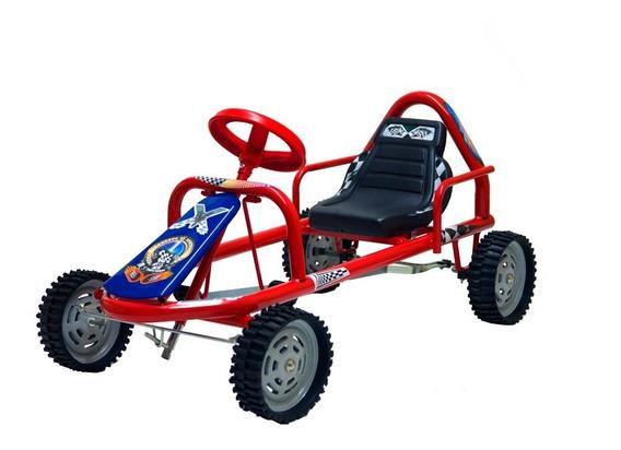 Karting A Pedal Infantil Ruedas Chapa Y Goma Robusto (601)