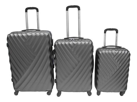 Set Kit 3 Maletas Rigidas 4 Ruedas Viaje Vacaciones