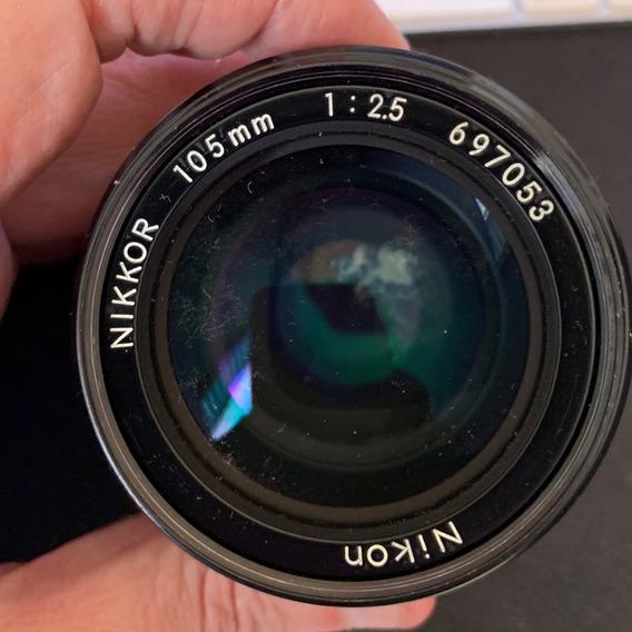 Lente Nikon 105 Mm F/2.5 Mecanica Usada
