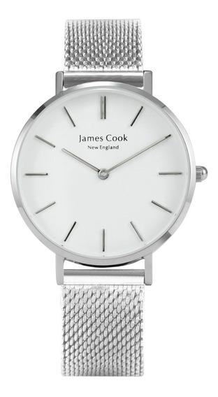 Relógio Feminino Aço Inoxidável Prateado James Cook Original