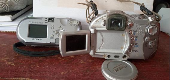2 Cameras Com Defeito ( Canon Importada E Sony Cybershot)