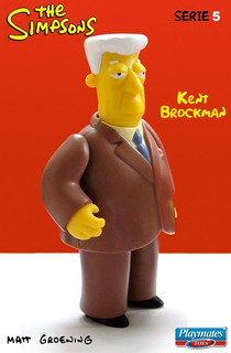 Kent Brockman: The Simpsons. Serie 5. Playmates Toys. 2001.