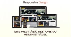 Site Para Rádio Responsivo Aministrável