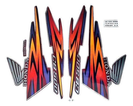 Faixas / Kit Adesivos Honda Cb500 2000 Vermelha