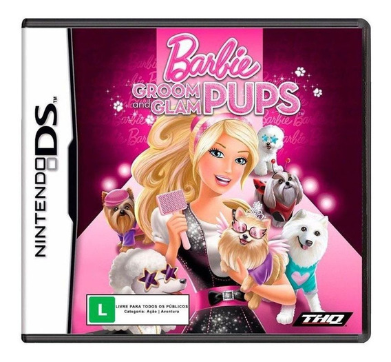 Jogo Barbie Groom And Glam Pups Ds