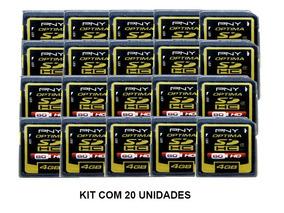 Cartao De Memoria Sd Hc 4gb Pny P-sdhc4g4-fs Kit 20 Unidades
