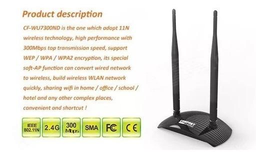 Super Adaptador Wifi Usb 2 Antenas